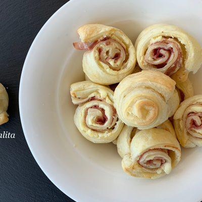 Girelle di pasta sfoglia - dolcevitalita